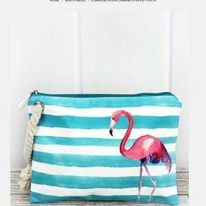 Handbags - NWT Flamingo Large Wristlet!